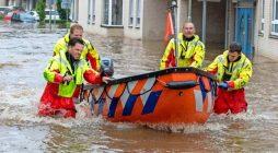 Watervloed rondom Limburg